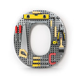 Letter O. Alphabet from the tools on the metal pegboard isolated