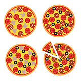 Vector illustration of a pizza to decorations, banners, websites
