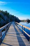 Foot bridge across lake Gothenburg,Sweden 2018