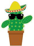 Vector Funny Cactus