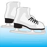 Skates on ice
