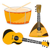 Several music instruments