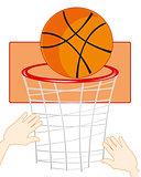 Command play basketball
