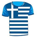 T-shirt with flag greece