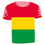 T-shirt flag bolivia