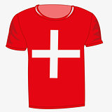 T-shirt flag switzerland