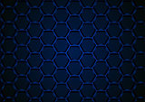 Blue Hexagonal 3D Mesh Background