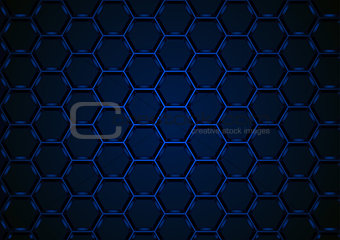 Blue Hexagonal 3D Mesh Background