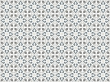 Decorative Seamless Pattern in Gray Tones