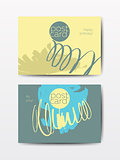 Modern grunge brush postcards