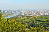 Top-view of Vienna, Austria