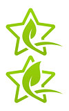 Icon set. Eco star