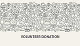 Volunteer Donation Banner Concept