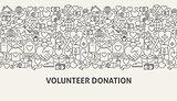Volunteer Donation Banner Concept