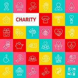 Vector Charity Line Icons