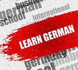 Learn German on the White Wall.