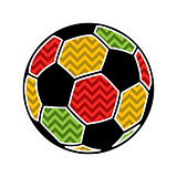 Colorful football ball