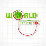 Vector illustration of World Health Day Greeting