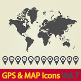 World map icons 7