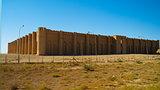 Exterior view to Al-Ukhaidir Fortress aka Abbasid palace of Ukhaider near Karbala Iraq
