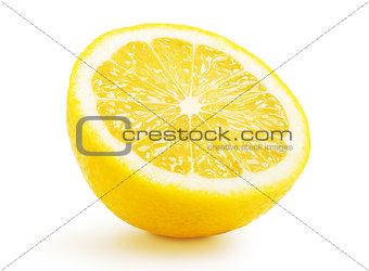Half lemon citrus fruit isolated