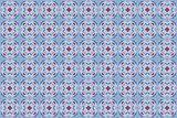 Decorative Ceramic Seamless Tiles in Blue Tones
