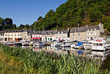 Dinan Port on the Rance River, Breton