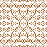 Ligature pattern gold seamless vector line style.