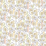 Hand drawn eucalyptus seamless pattern.