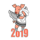 Simbol 2019 Happy New Year chinese horoscope.