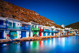Colorful fisherman houses, Greece