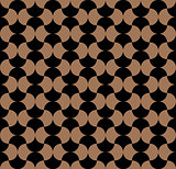 Modern repeating seamless pattern of repeat round shapes. Stylish texture. Geometric background. Vector illustration.
