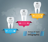 Business Infographics. Tooth icon.