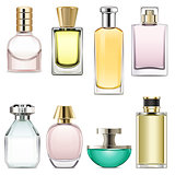 Vector Perfume Icons Set 3