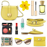 Vector Yellow Fashion Accessories