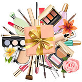 Vector Makeup Cosmetics with Gift