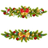 Vector Christmas Fir Decoration with Bow
