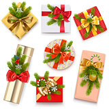 Vector Christmas Gift Boxes