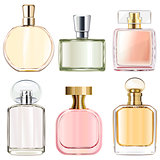 Vector Female Perfume Bottles