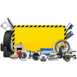 Vector Car Spares Yellow Frame