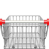 Vector Supermarket Cart Rear View