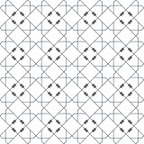 Islamic seamless vector pattern. Geometric ornaments based on traditional arabic art. Oriental muslim mosaic. Turkish, Arabian, Moroccan design on a white background. Mosque decoration element. eps10