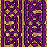 Knitted seamless twisted pattern