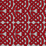 Chaotic interlaced knitted pattern