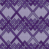 Knitted seamless interwoven pattern
