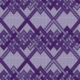 Knitted seamless interwoven pattern