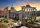 Temples and ruins of Roman Forum