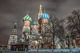 Red Square, St. Basil's Cathedral. Moscow, Russia