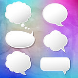 Colorful Background With Speech Bubble