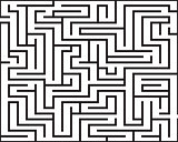 Rectangle maze isolated
